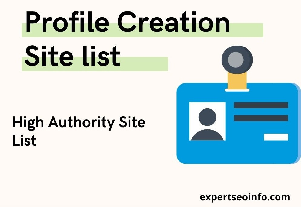 profile creation site list